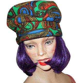 Charming Vintage Colorful Paisley Ladies Fashion Beret Style Hat