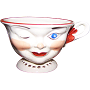 Vintage Lipton Promo Winking Tea Cup Female As Is Staffordshire England