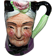Miniature  Character Jug  Hand Painted Artone England GRANNY