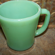 Vintage Oven Ware Green Jadeite Green Glass Mug