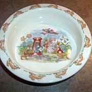 Charming Vintage Royal Doulton Bunnykins Porridge Bowl