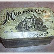Vintage Advertising Tin MARYLAND Club Mixture Chest Box