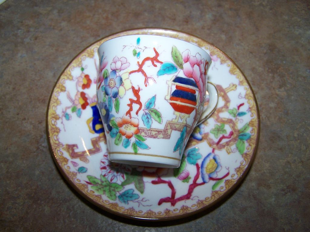 Vintage Mintons  England Oriental Themed Demi-Tasse Saggi MFG CO. San Francisco