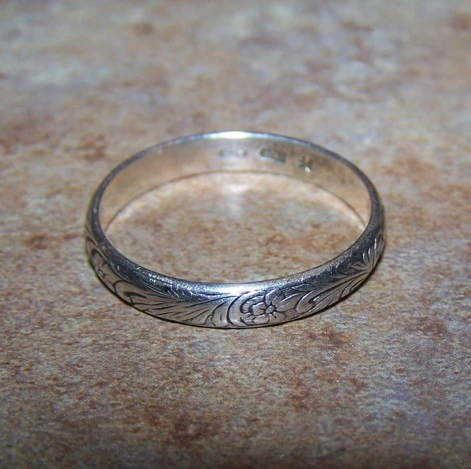Antique Silver Band Rings - Engagement Rings & Jewellery