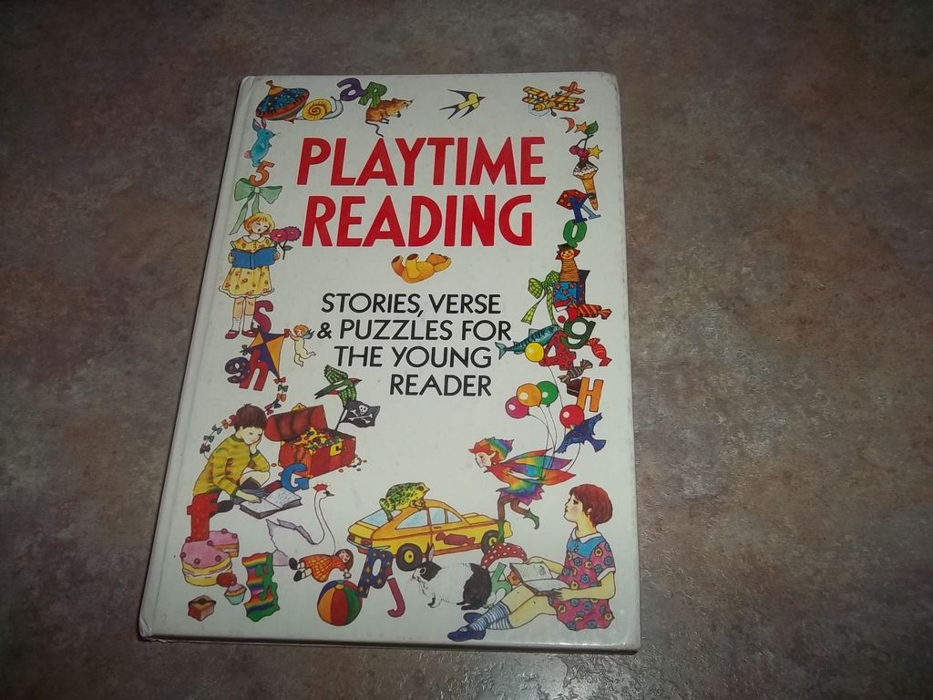 Vintage H.C. Book PlayTime Reading Stories Verse & Puzzles