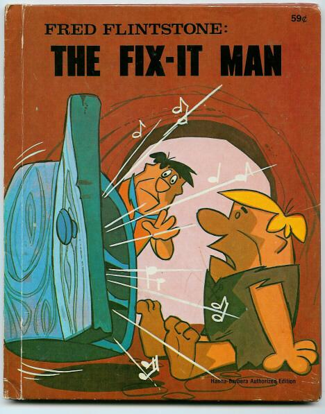 Fred Flintstone The Fix It Man Hanna-Babera Auth. Edition Book