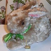 Vintage Stuffed Bunny Rabbit original tag BAKI PLUSCHTIERE