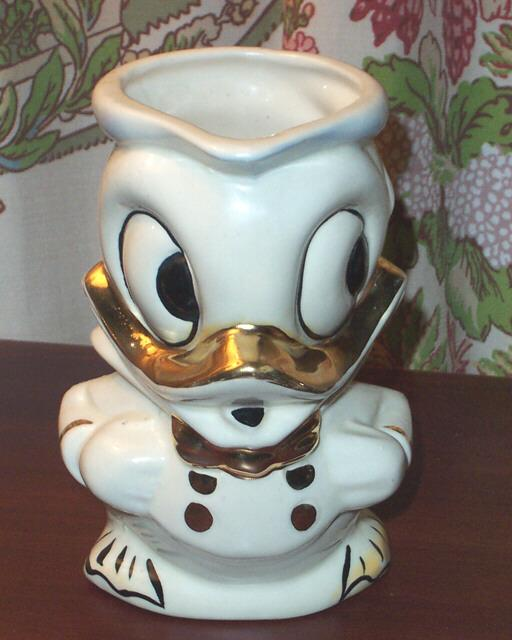 American Bisque Walt Disney Pottery Donald Duck Pottery Pitcher