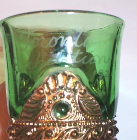 Emerald Colorado Green Souvenir Glass Mug 1921 Toronto Exhibition