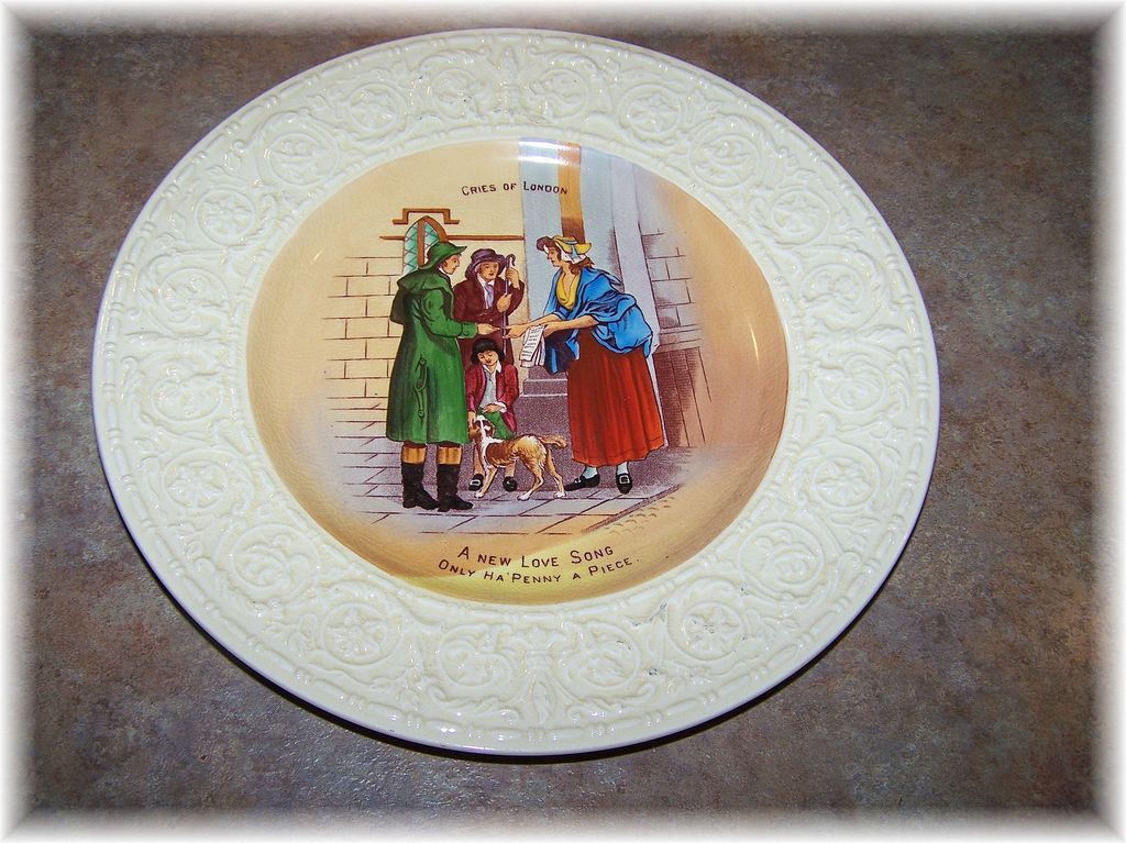 Vintage Plate Cries of London Crown Devon