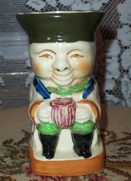 Vintage Ceramic Grinning Toby Jug Japan