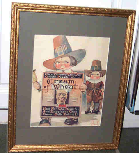 Framed 1923  Advertising Magazine Print Cream of Wheat Cereal