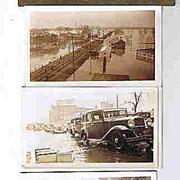 Vintage B&W Flood Pictures Original Paper Holder 1923