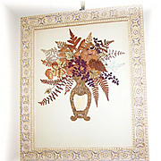 Quality Framed Decorative Arts Pressed Flower / Floral Bouquet