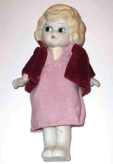 Betty Boop Style Bisque Doll Movable Arms Immobile Legs
