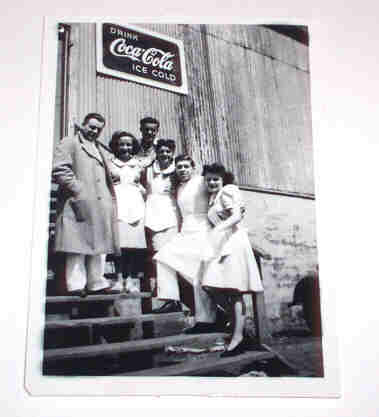 Original Vintage B&W Photograph Drink Coca Cola Ice Cold