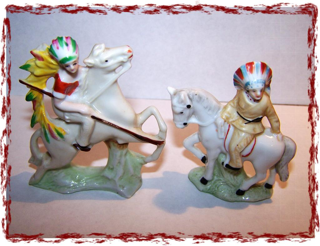 Germany Native Americana Porcelain Figurines Miniature