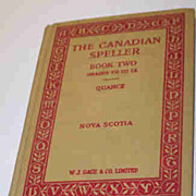 School Text Book The Canadian Speller Book 2 Grades VII to IX Quance