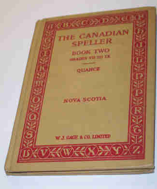 School Text Book The Canadian Speller Book 2 Grades VII to IX Quance