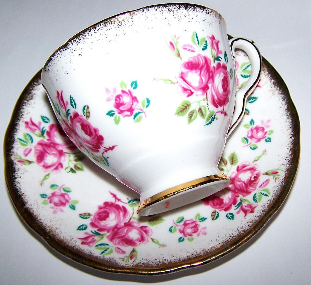 Bone China Roses Floral Tea Cup & Saucer Royal Stafford England