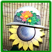 Kates Boutique Canada Vintage 1970's  Straw Hat