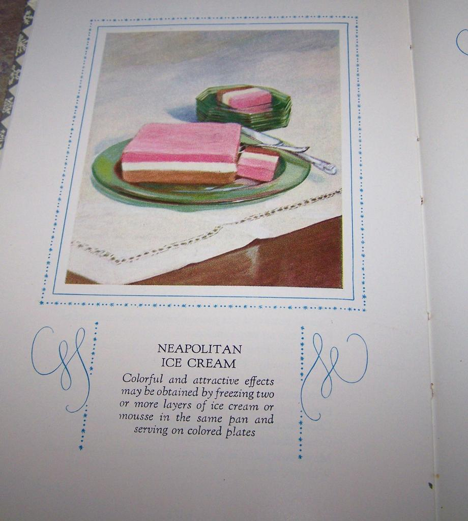 Electric Refrigerator Recipes and Menus  H.C. Book C. 1929
