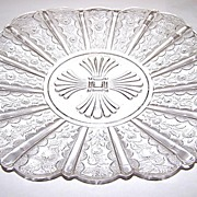 Oh So Pretty Paneled Daisy  / Brazil / Daisy & Panel Pressed Glass Plate