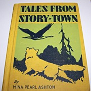 Book Reader Tales From Story - Town  Mina Pearl Ashton Silhouette Style Illustrations