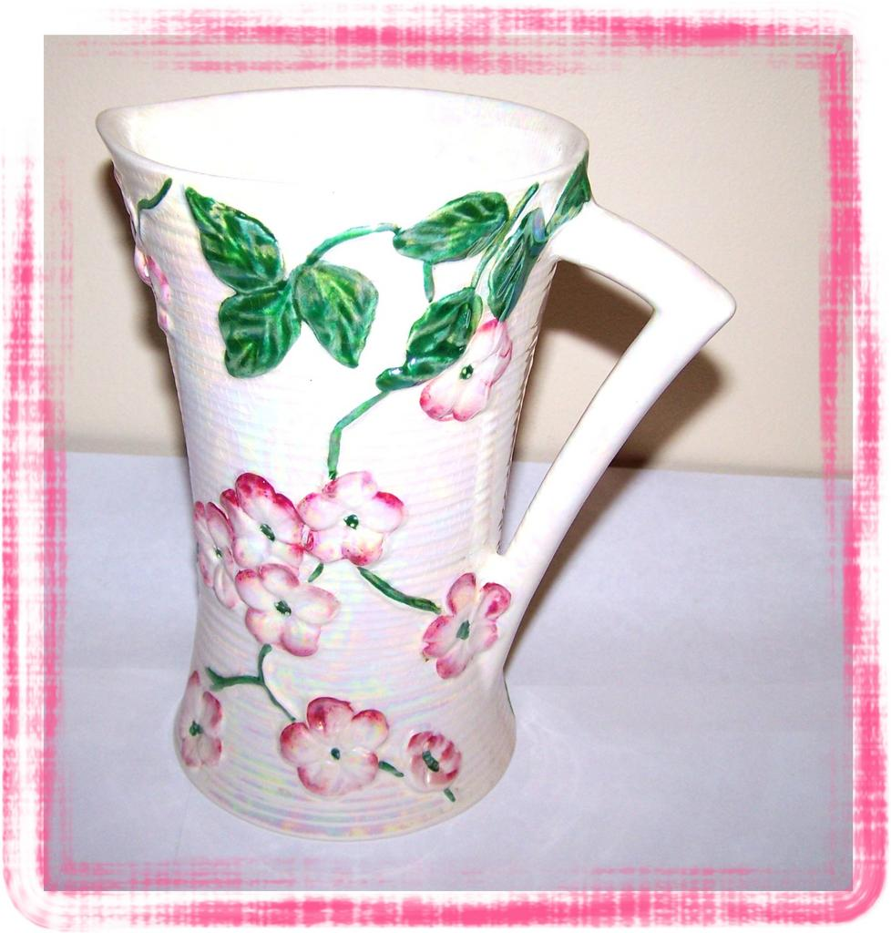 Lustre Ware Maling Apple Blossom Lustre Ware Pitcher