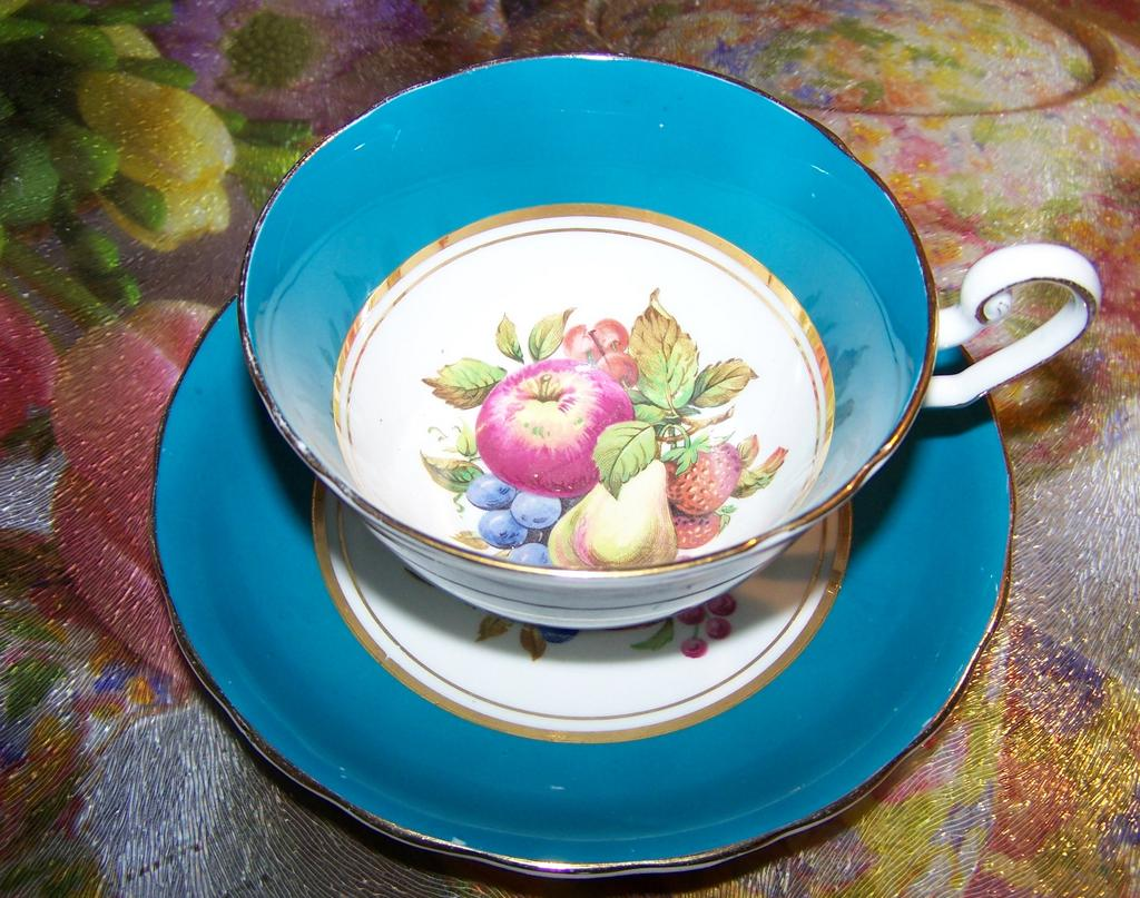 Windsor Fruit Tea Cup & Saucer Berries, Apple , Pear , Strawberries