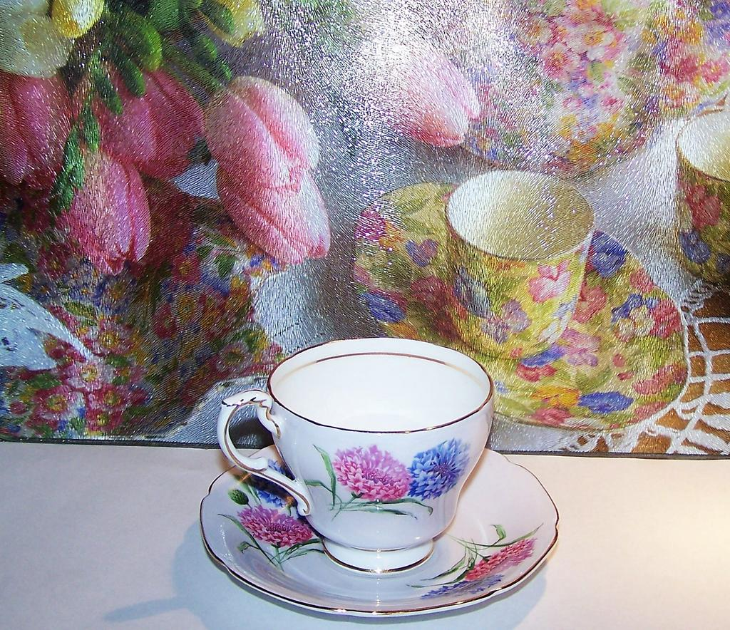 Bachelor's Button / Cornflower Tea Cup & Saucer Paragon