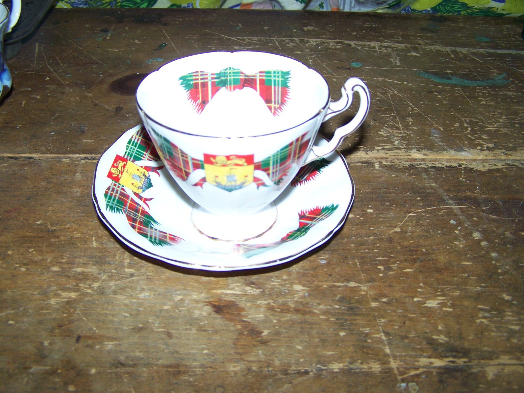 Adderley China Tea Cup & Saucer New Brunswick Tartan