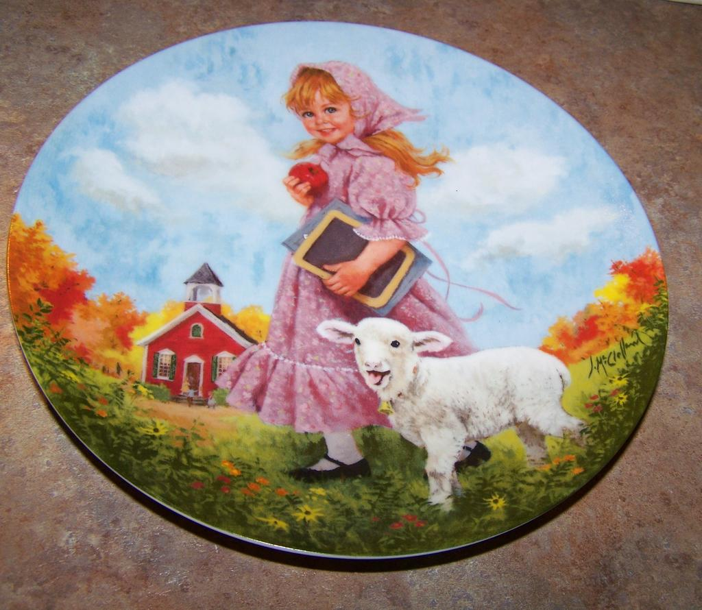 Mary Had A Little Lamb Plate Recom 1985 Victoria S