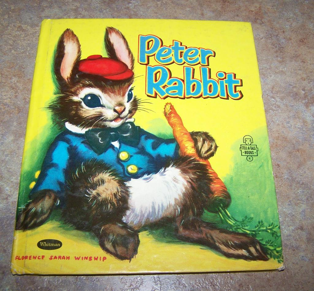Peter Rabbit Whitman Book Florence Sarah Winship 1955