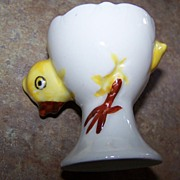 Chick Cracked Egg Ceramic Egg Cup