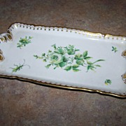 Artist Hand Painted Langenthal Porcelain Vanity Tray Bug Insect Floral