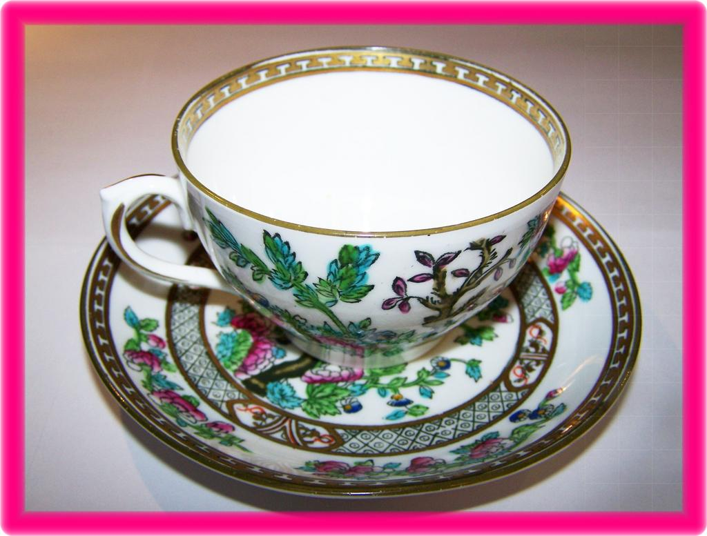 Royal Crown Chelsea India Tree Tea Cup & Saucer
