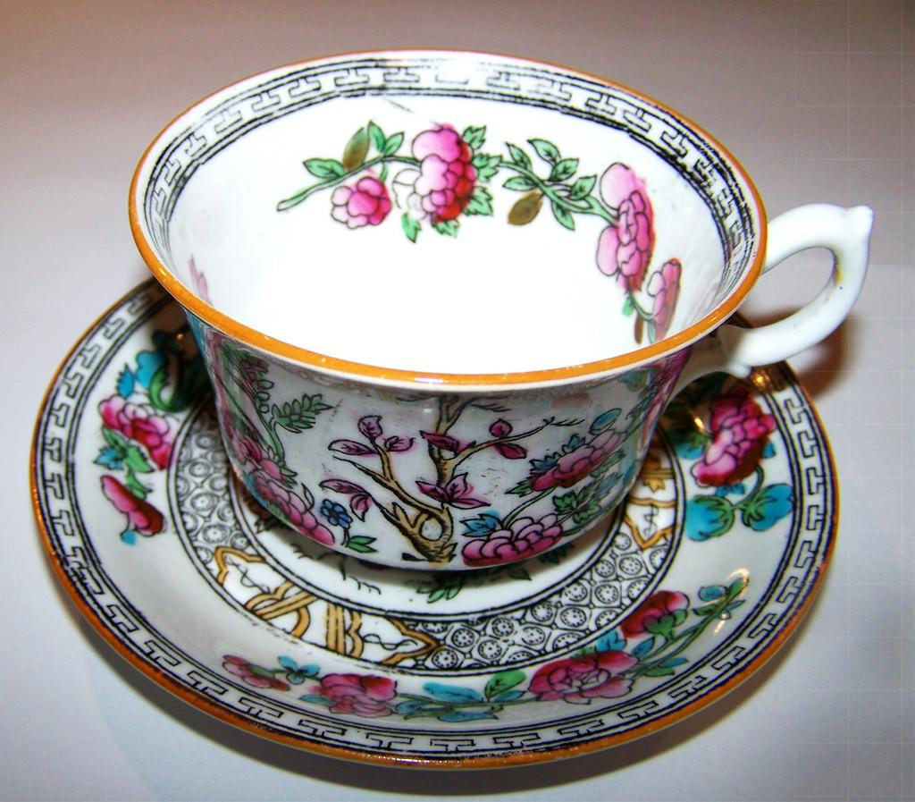 G.S. & Co Foley China England  Indiana Cup & Saucer