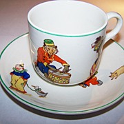 Novelty Circus BCM Nelson Ware Cup & Saucer Jacko Monkey , Clowns , Drum , Dog