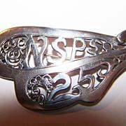 Unique Decorative NSPS 25 Brooch / Pin