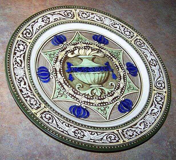 Unique Vintage Royal Doulton Plate / Charger Featuring an Urn