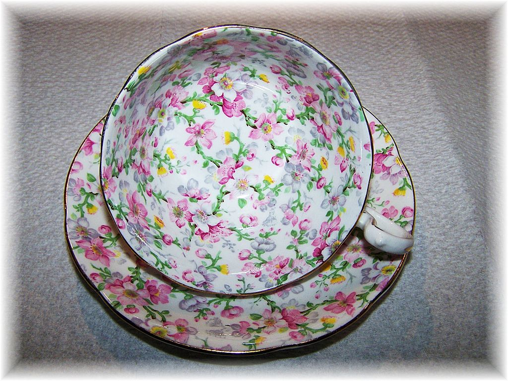 "All Over Floral Pattern  Chintz Tea Cup & Saucer ""May Medley"" Royal Standard"