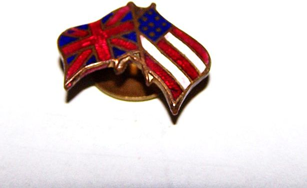 Enamel Tac Pin Flags USA Stars & Stripes / Union United Kingdom
