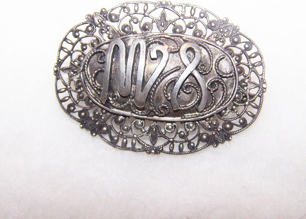 Decorative Vintage Symbolic Brooch Pin