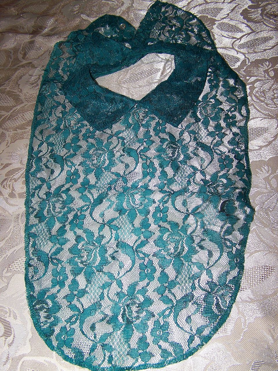 Pretty Vintage Teal Lace Dickie A. Brod