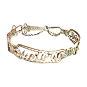 Sentimental Brass Wire Name Bracelet Victoria Pronay