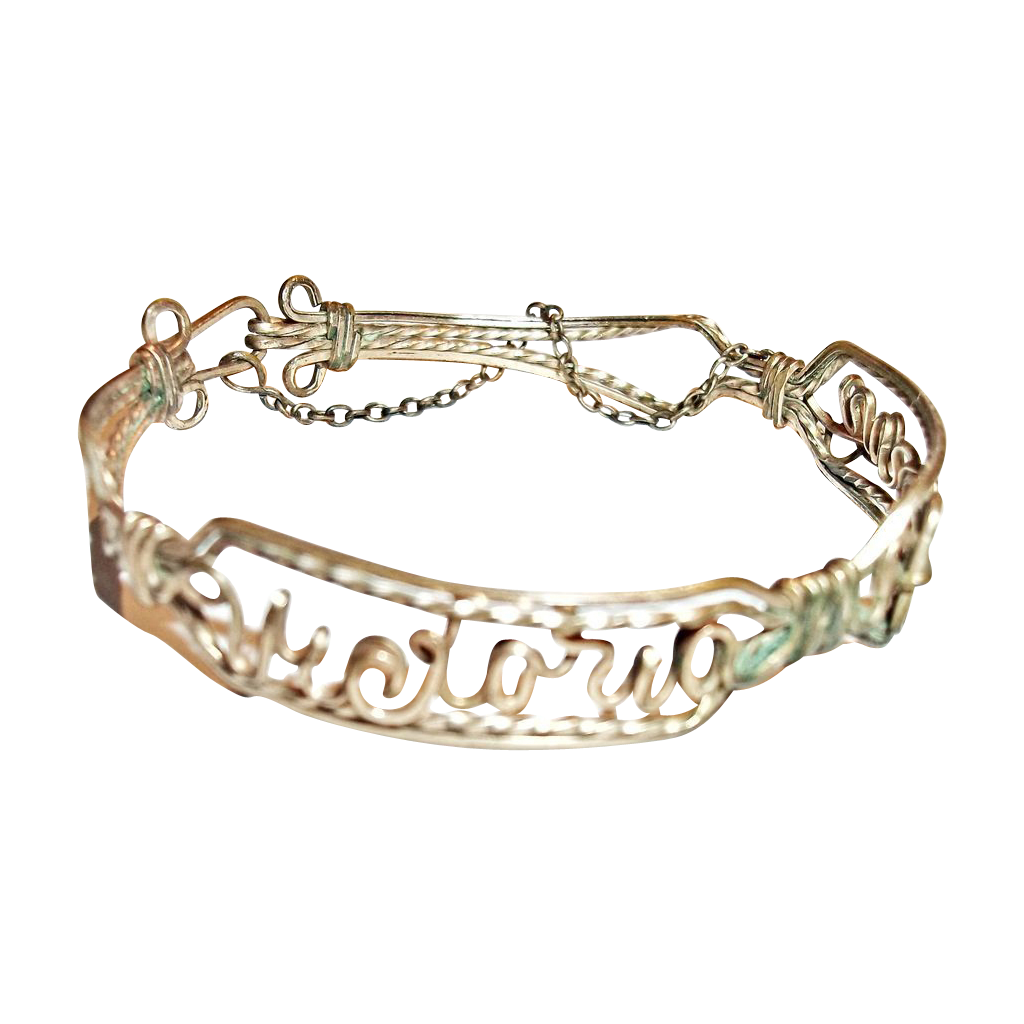 Sentimental brass wire name bracelet victoria pronay from for L furniture warehouse victoria bc