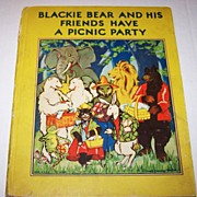 H.C. Children's Book Blackie Bear and His Friends Have A Picnic