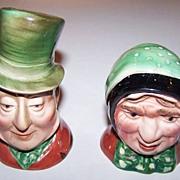 Beswick  Character Salt & Pepper Set Dickens' Sairey Gamp & Micawber