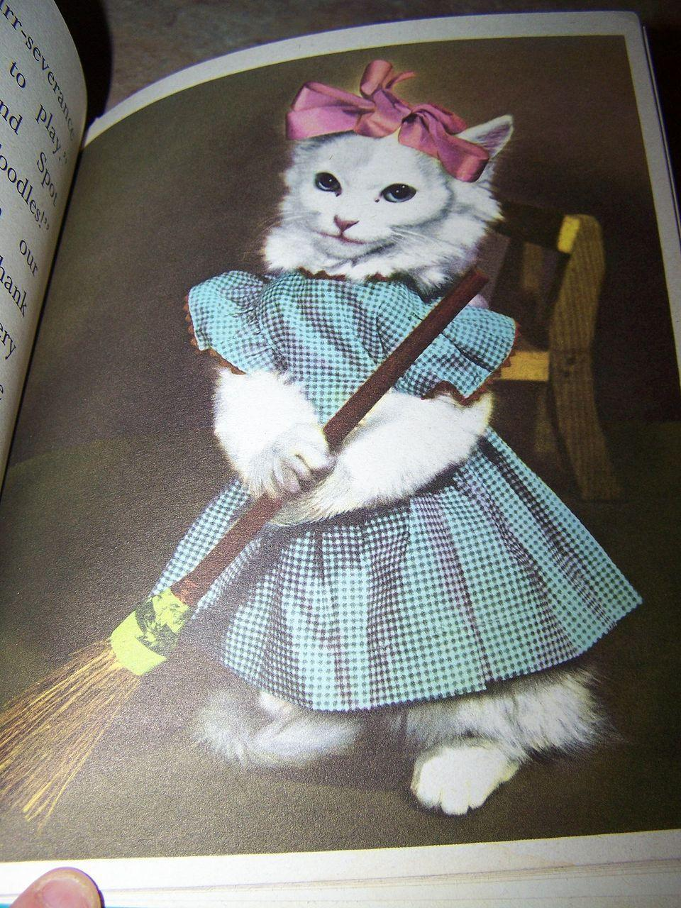 "Rand McNally Elf Book "" Little Friends "" Animals Playing Dress - Up"